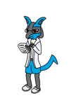 Middy the Lucario by SparkFire93