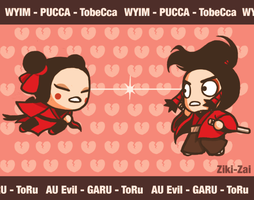 WYIM!Pucca vs Rev!Garu by ziki-zai