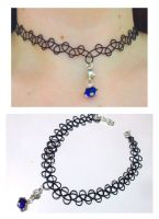 Tattoo style choker by EruwaedhielElleth