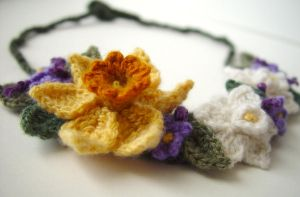 Crochet Spring Flower Necklace by meekssandygirl