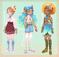 (OPEN/SET PRICE) Summer Adoptables 1 LEFT by SunnyCove