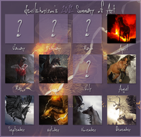 2012 Summary of Artwork by devils-horizon