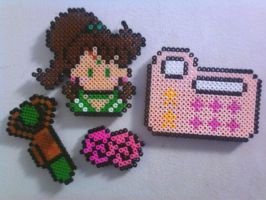 Jupiter perler Magnet set by CraftyPenji