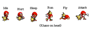 Sprites Knuckles And Khaos by SpriteGirl