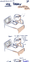 comic strips Gaje -- ME TODAY by aphin123