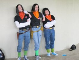 Three Android 17s by EndOfGreatness