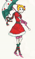 Christmas outfit design by Mollykittykat