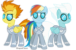 Spitfire Dash and Fleetfoot by DragonChaser123
