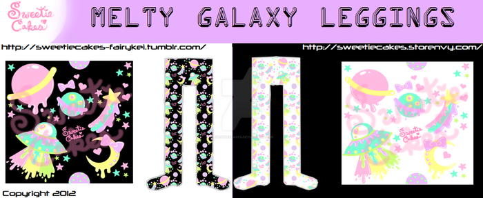 Melty Galaxy Leggings by SweetiexCakes