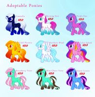 Adoptable Ponies by uppuN
