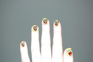 Awesomeface Nails by BedraggledKitty