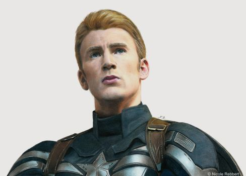 Captain America (drawing) by Quelchii
