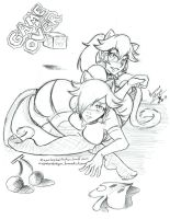 Peach and Rosalina 3D World's Game Over by NayaaseBeleguii