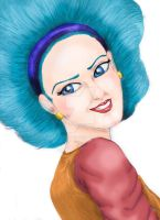 old Bulma Sketch (Colored) by Lala-Dello