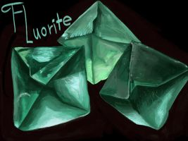 Mineral Practice: Fluorite by TheDonQuixotic