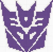 Decepticon cross stitch pattern by Zaraphena