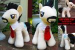 Tony Stark Custom MLP Plush by StudioNeko