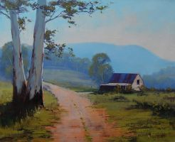 Track to the farm by artsaus