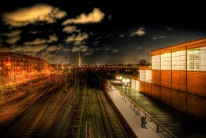 rails in the city by marikaz
