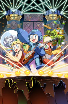 Mega Man issue 55 ROCKMAN variant cover by RyanJampole