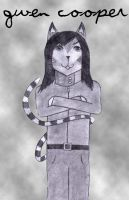 Cat Gwen Cooper by snow-white-king