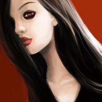 My beautiful Mikan in black and red by Blue-F-Phoenix