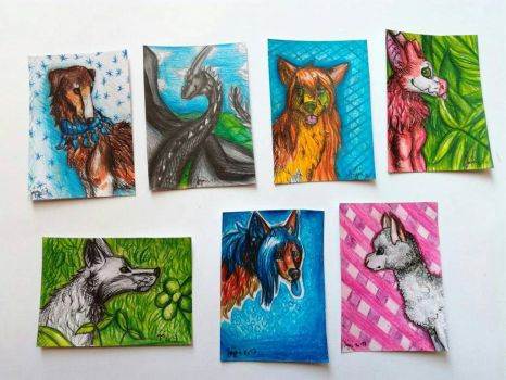 ACEOs ~ Animals  by yikoo