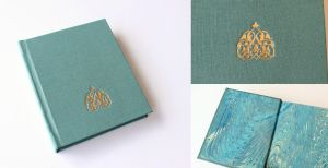 Turquoise Journal with Gilded Arabesque by GatzBcn
