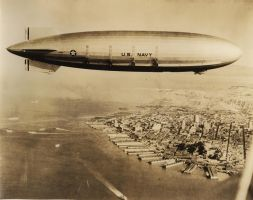 USS AKRON over SF by FCARVALLO