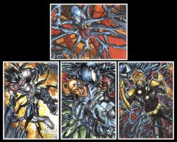 Symbiote Zzzxx Personal Sketch Cards by AHochrein2010
