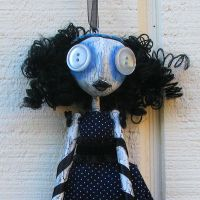 She Sees Stars Art Doll Ornie by Miss-Millificent