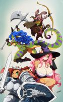 Dragon's Crown Girls by ChaloDillo