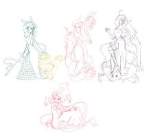 Adventure Time girls - WIP by ficakes911