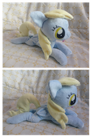 Lying Derpy Hooves plush by Fallenpeach