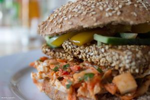vegan asia-sesame burger by blacky-mo