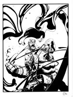 Hellboy vs Inque by Stephen-Green
