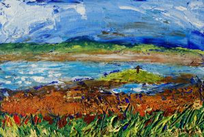 Holy Island - view to St Cuthbert's Isle by davepuls