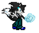 Cyrus the Wolf in sprite by LegendarySatera