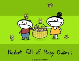 Basket Full of Baby Owlies by sebreg
