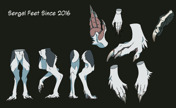 [Preview of Official Sergal Ref] Sergal Feet 2016 by mick39