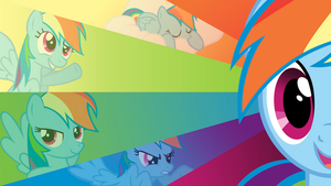 Rainbow Dash 20 Percent More Cooler Wallpaper by BlueDragonHans