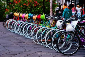 rental bicycle... by adjieguswara-art