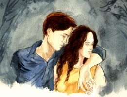 Edward And Bella in Rio - Colour Sketch by LittleSeaSparrow
