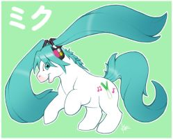 Little Hatsune Miku Pony by Nyaasu