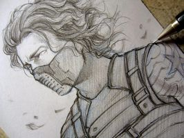 Winter Soldier - Who's him?... - Sketch by Lehanan
