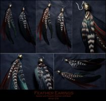 Feather Earings 1 by K-einess