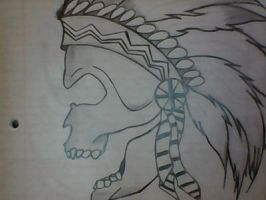 Indian Chief Skull by SenpaiCheese
