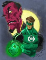 Green Lantern By Stevensanchez-colored by Icecat13