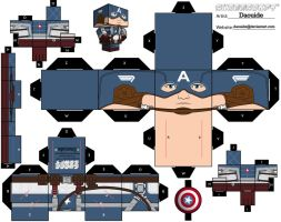 Captain America Cubeecraft by topduelist