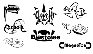 BW Logo Typography Practice - Gen 1 Batch by OddPenguin